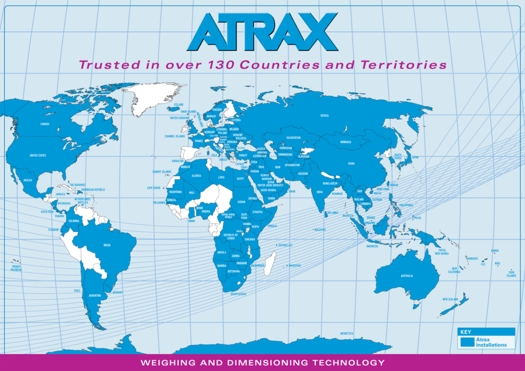 World Map with 130 countries Atrax