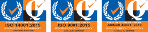 Atrax Group ISO Certification logos 2020 - colour