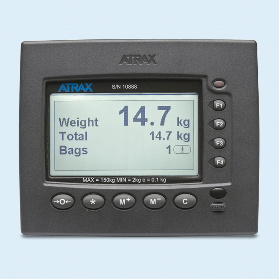 Atrax passenger self service scale - screen display