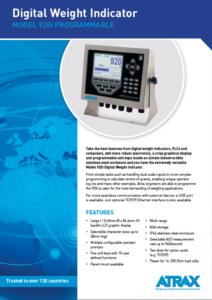 Atrax Model 920i DWI (rev 0816) PDF | Thumbnail