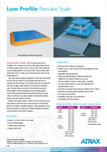 Atrax Platform Scale - Low Profile Pancake Scale PDF | Thumbnail