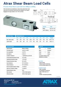 Atrax Shear Beam Load Cells Data Sheet (0920) PDF | Thumbnail