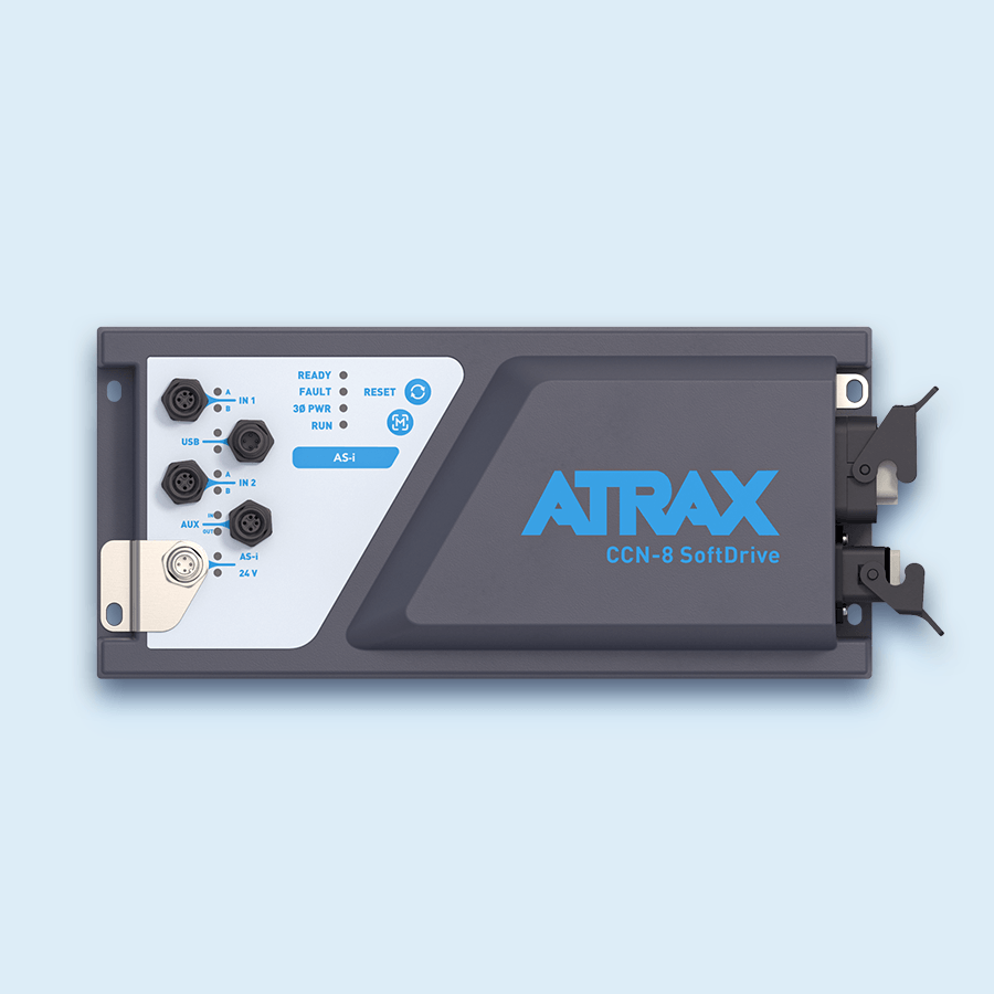 Atrax CCN-8 SoftDrive Render 4 - Top Down View (201207) | Control Products