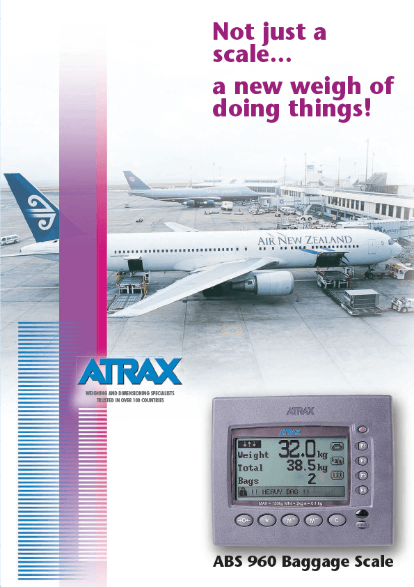 Atrax ABS 960 Baggage Scale Brochure
