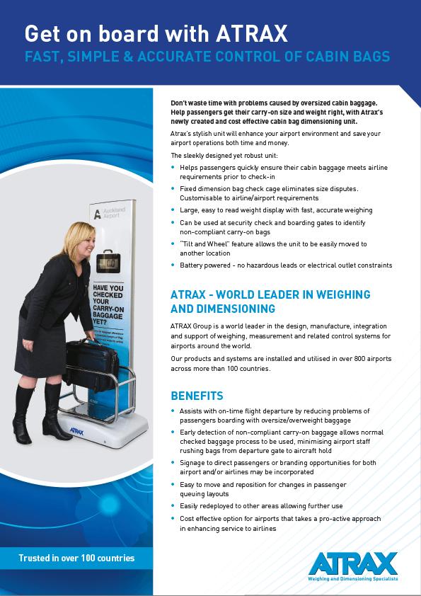 Atrax Digital Cabin Bag Check Unit Brochure