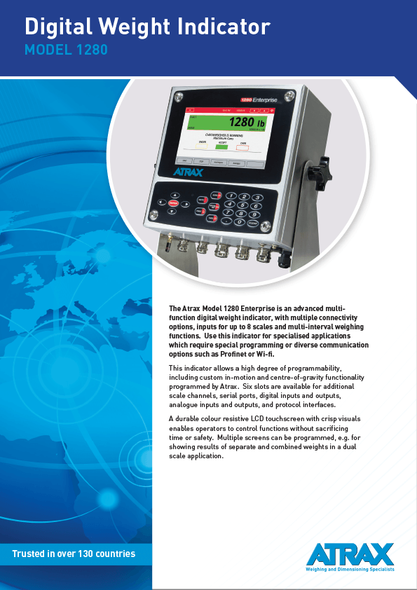 Atrax Model 1280 Digital Weight Indicator Brochure