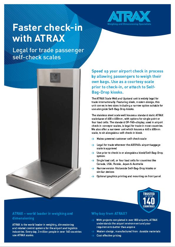 Atrax Passenger Self-Service Scales Brochure