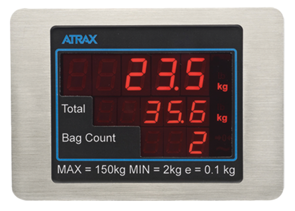 Atrax Scale Display: Passenger Panel | Airport Baggage Scales